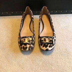 Size 10 Womens Tory Burch Cheetah Print Heels